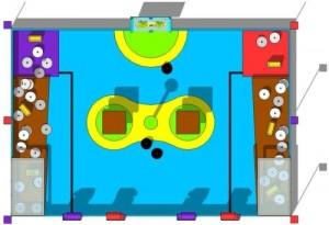 Spielfeld des Eurobot 2012